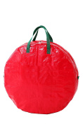 Red Holiday Christmas Wreath Ornaments Storage Bag - 60cm