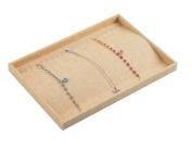 Autoark Sackcloth Stackable 20 Hooks Jewellery Tray Necklace Display Showcase Organiser,AJ-003