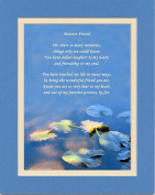 "Friend Gift with ""We Share so Many Memories"" Poem. Water Lily Leaves Photo, 8x10 Double Matted. Special Friendship Gifts for Friends. Christmas, Birthday Best Friend Gifts."