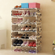 Luffar 7-Tyre Shoe Storage Cabinet Large Capacity Shoe Rack Organiser with Non-woven Dustproof Cover
