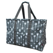 Grey Arrow Print NGIL Mega Shopping Utility Storage Tote Bag