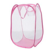 Singleluci Foldable Pop Up Washing Laundry Bag Mesh Storage Basket