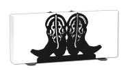 COWBOY BOOTS WESTERN Metal Letter Napkin Card Holder