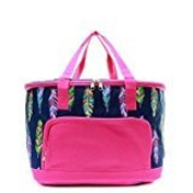 Insulated Feather Print Cooler Shoulder Bag