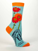 "Blue Q Women's Novelty Crew Socks ""Easy To Squeeze"""