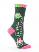 "Blue Q Women's Novelty Crew Sock ""Less You More Me"""