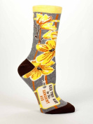 "Blue Q Women's Novelty Crew Sock ""Kick This Day In It's Sunshiny Ass"""