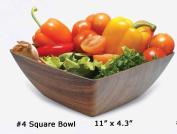 Microwave and Freezer Safe Square Bowl - Mahogany Colour 28cm x 11cm
