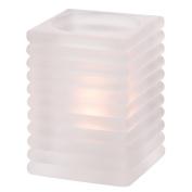 Hollowick Satin Crystal Horizontal Rib Glass Rod Lamp