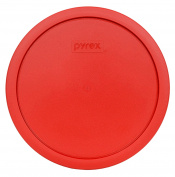 Pyrex 7403-PC 10 Cup Poppy Red Round Plastic Storage Lid