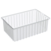 Akro-Mils Akro-Grid Dividable Container - 16-1/2 X10-2.2cm X 15cm - Clear - Clear - Lot of 8