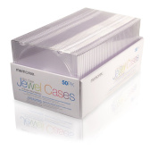 """Memorex - 50/Pk Slim Cd/Dvd Clear Jewel Cases """"Product Category"""