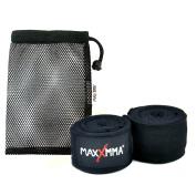 MaxxMMA 460cm Nylon Poly Hand Wraps + Washable Mesh Bag