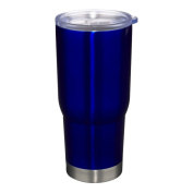 Liquid Logic Vacuum Insulated, Condensation Free, Stainless Steel Tumbler Frosted Acrylic Slide Closure Lid, Blue, NA