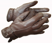 Ladies Leather Horse Riding Gloves Buckle Black Brown Tan Hands On Equestrian