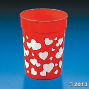 Plastic Valentine Heart Tumblers/VALENTINE'S DAY Party Supplies and Tableware/CUPS
