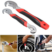 MAGIC SHOW 2Pcs Multi-function Universal Quick Grip Adjustable Wrench Spanner TO294