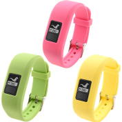 SnowCinda Silicone Wristband Replacement Bands for Garmin vivofit JR, Choice of Colours, Secure Watch Strap, XL Replacement Band