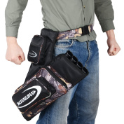 XTACER 4-Tubes Hip Quiver 810D Hunting Training Camo Archery Arrow Hip Quiver Holder Bow Belt Waist Bag Pouch