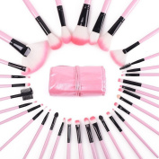 Make Up Brushes, 32 Piece Brushes Cosmetics Professional Essential Make Up Brush Set Kits with Travel Pouch