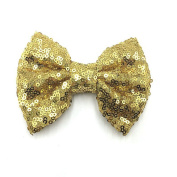 PrettyBoutique 10cm Girls Sequin Glitter Sparkle Hair Bow Clip Accessories