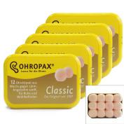 Ohropax Classic Earplugs - 12 Earplugs (5 Packs