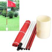77tech Backyard Practise Golf Hole Pole Cup Flag Stick,golf Putting Green Flagstick