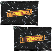 I Love You I Know Hyper Space Pillow Case Set Multi Standard One Size