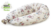 Nursing Pillow - Latex flakes filling, Support Pillow, Pregnancy Support Pillow, 190 cm, 100% Cotton Pillow Case