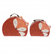 Sass and Belle Suitcase sets - Angus the Fox Floral Friends