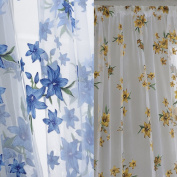 Oshide Floral Printing Door Window Net Curtain