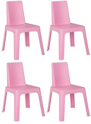 Resol Childrens Indoor / Outdoor Julieta Chair - Pink x 4