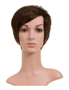 LADIES 100% HUMAN HAIR SOFT FULL HEAD PIXIE CUT CROP WIG WITH BANGS