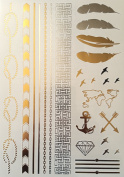 Ionia - Gold and Silver temporary tattoo
