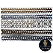 Amelie - Gold and Silver stunning metallic temporary tattoo