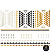 Jazz - Beautiful Gold and Silver Temporary Tattoo -18