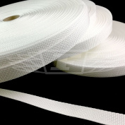 WHITE 20mm POLYPROPYLENE WEBBING STRAPPING, BAGS, STRAPS, WEAVE