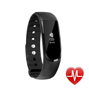 LETSCOM Smart Heart Rate Fitness Activity Tracker Bluetooth 4.0, Health Sleep Monitor Calories & Step Counter IP67 Waterproof OLED Touch Screen Wristband Watch for Android, IOS Smartphone - Men Women Boys Girls Ladies Man