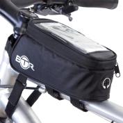 BTR Bike Bag Phone Holder Pannier - Water Resistant Bicycle Bag. Black.