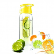 Hosaire 800ML Lemon Juice Fruit Infuser Water Bottle Flip Lid Water Infusing INFUSION 4 COLOUR