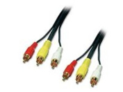 Lindy 35690 Audio Video Cable 3 x RCA Male/Male 1 m
