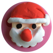 MOLLYSKY Christmas Santa's Head Silicone Cake Mould Cake Decoeating Tools,Pink
