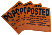 4 Pack Aluminium Posted Private Property Signs