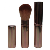Super Soft Rectractable Travel Make Up Brush with Synthetic hair for use with Bronzer, Blusher or Powder (Bronze) by Hot Off The Press
