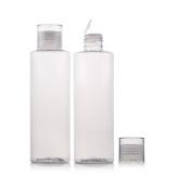 2Pcs 100ml/200ml Plastic Travel Bottle Split Charging Bottle Cosmetic Elite Fluid Makeup Water Holder Container Pot Jar Storage Bottle Tube