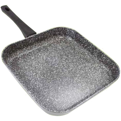 Stonewell Large 28cm Square Grill Granite Effect Non Stick Fry Griddle Induction Frying Pan Kitchen Cooking Cookware