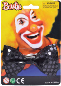 Circus Clown Fancy Dress Party Neckwear Accessory Elastic Bow Tie On Sequin Uk