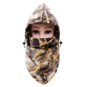 DDLBiz Autumn And Winter Outdoor Warm Wind Thick Camouflage Cap Windproof Balaclava