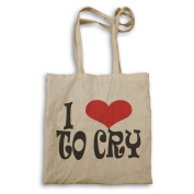 I love to cry novelty Tote bag r4r