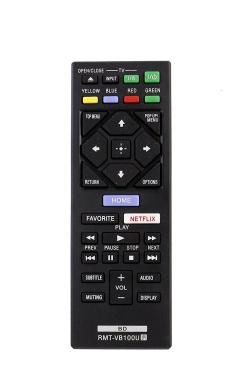 allimity New Replace Remote Control RMT-VB100U Fit for SONY BLU-RAY DISC BDP-S1500 BDP-S3500